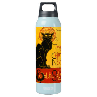 Le Chat Noir The Black Cat Insulated Water Bottle