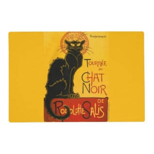 Le Chat Noir The Black Cat Placemat at Zazzle