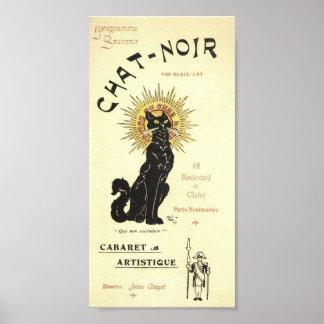 Le Chat Noir The Black Cat Poster