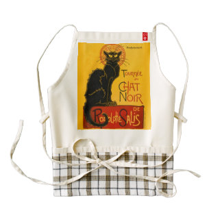 Le Chat Noir The Black Cat Zazzle HEART Apron