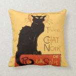Le Chat Noir Throw Pillows