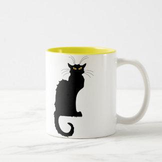 Le Chat Noir Two-Tone Coffee Mug