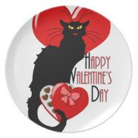Le Chat Noir Valentine Party Plates