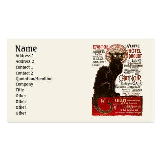 Le Chat Noir, Vente Hôtel Drouot Double-Sided Standard Business Cards (Pack Of 100)