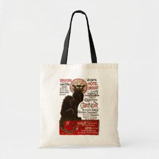 Le Chat Noir, Vente Hôtel Drouot Fine Art Tote Bag