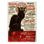 Le Chat Noir, Vente Hôtel Drouot Greeting Card