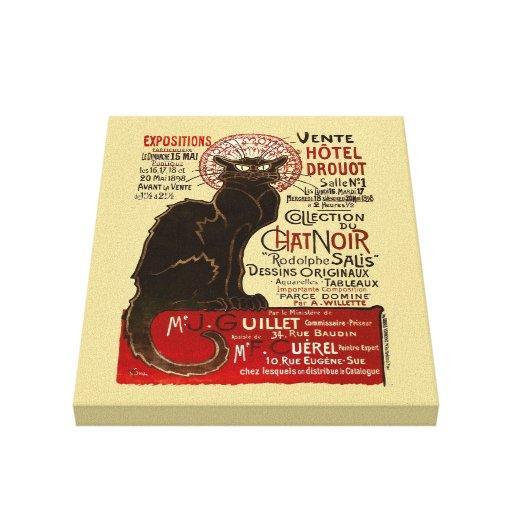 Le Chat Noir, Vente Hôtel Drouot Impresión En Lona