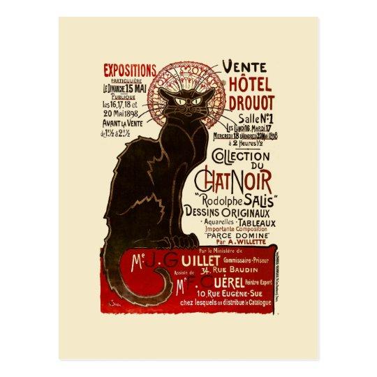Le Chat Noir, Vente Hôtel Drouot Postcard