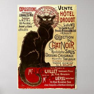 Le Chat Noir, Vente Hôtel Drouot Póster
