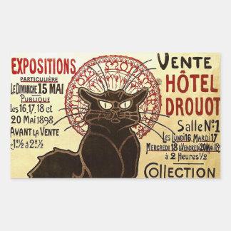 Le Chat Noir, Vente Hôtel Drouot Rectangular Sticker
