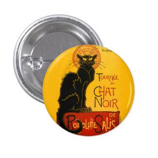 Le Chat Noir Vintage Black Cat Art Nouveau Retro Pinback Button