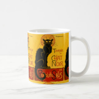 Le Chat Noir Vintage Black Cat Art Nouveau Retro Coffee Mug