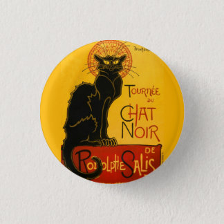 Le Chat Noir Vintage Black Cat Art Nouveau Retro Pinback Button