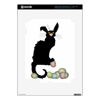 Le Chat Noir with Colored Easter Eggs iPad 3 Skins