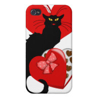 Le Chat Noir With Valentine Candy iPhone 4 Case