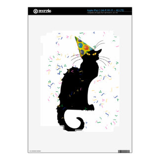 Le Chat Party Hat & Confetti iPad 3 Decal
