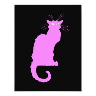 Le Chat Rose Card