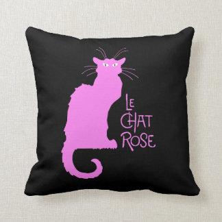 Le Chat Rose Pillow