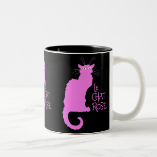 Le Chat Rose Two-Tone Coffee Mug