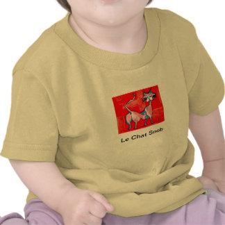 Le Chat Snob Camiseta