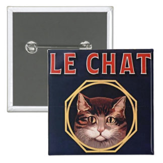 Le Chat square button pin