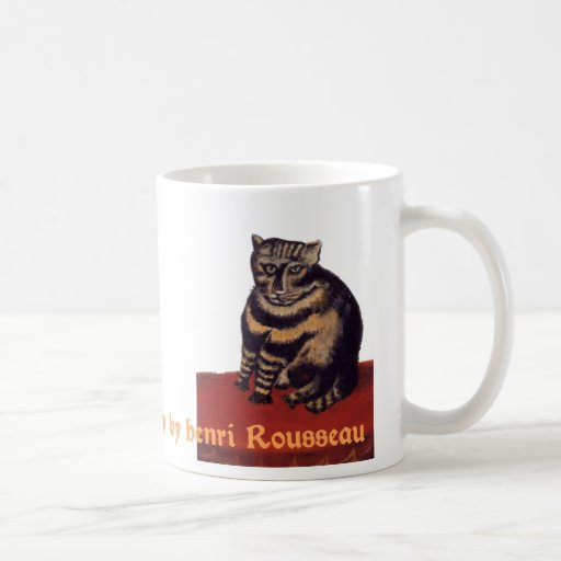 Le Chat Tigre or Tabby by Henri Rousseau Classic White Coffee Mug