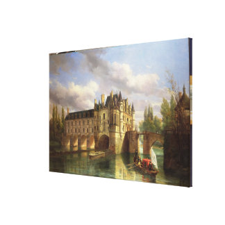 Le Chateau de Chenonceau, 1843 (oil on canvas) Canvas Print