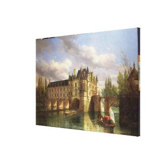 Le Chateau de Chenonceau, 1843 (oil on canvas) Canvas Print