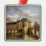 Le Chateau de Chenonceau, 1843 (oil on canvas) Metal Ornament