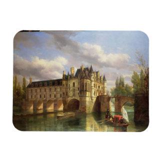 Le Chateau de Chenonceau, 1843 (oil on canvas) Rectangular Photo Magnet