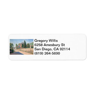 Le Chateau de Comblat - Paul Signac Custom Return Address Label