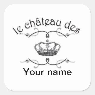 le chateau des SU NOMBRE v.2 Pegatinas Cuadradas Personalizadas