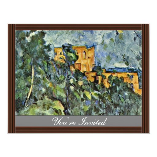 """Le Château Noir de Paul Cézanne (la mejor calidad) Invitación 4.25"""" X 5.5"""""""