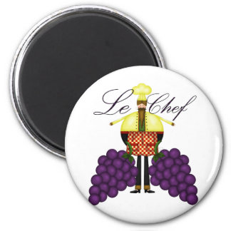 Le Chef 2 Inch Round Magnet