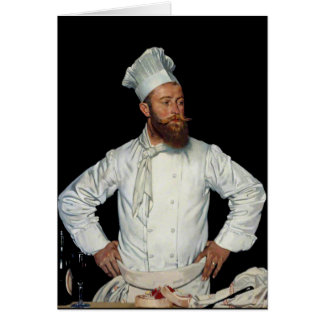 Le Chef by Orpen Stationery Note Card