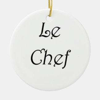 Le Chef Ceramic Ornament