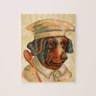 Le Chef Cooking Dog French Cook Jigsaw Puzzle