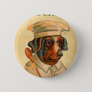 Le Chef Cooking Dog French Cook Pinback Button