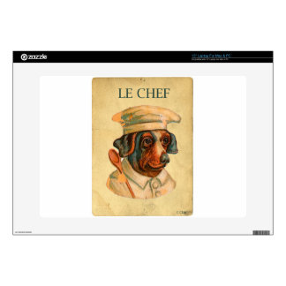 """Le Chef Cooking Dog French Cook Skin For 15"""" Laptop"""