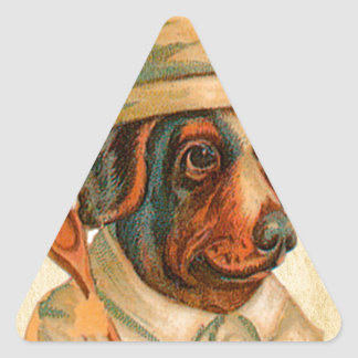 Le Chef Cooking Dog French Cook Triangle Sticker