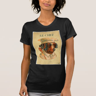 Le Chef Cooking Dog French Cook Tshirts