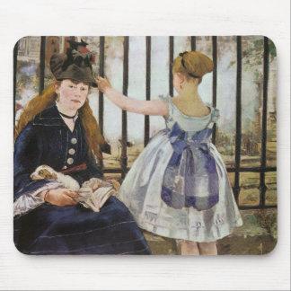 Le Chemin de fer 1873 by Edouard Manet Mouse Pad