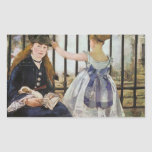 Le Chemin de fer 1873 by Edouard Manet Rectangular Stickers