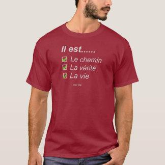 Le chemin La vérité et la vie Gris clair T-Shirt