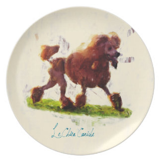 Le Chien Caniche Dinner Plate