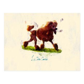 Le Chien Caniche Postcard