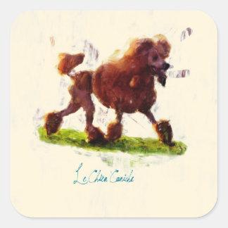 Le Chien Caniche Square Sticker