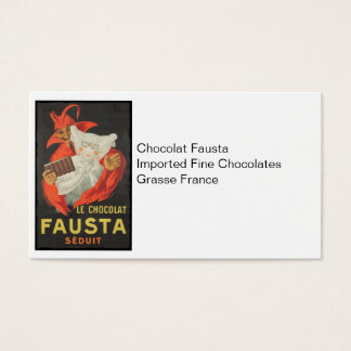 Le Chocolat Fausta Seduit Chocolate Seduction Business Card