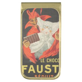 Le Chocolat Fausta Seduit Clip Para Billetes Dorado