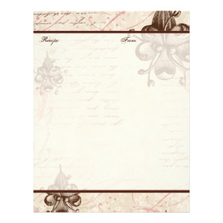 Le Chocolatier Family Heritage Recipe Pages Custom Letterhead